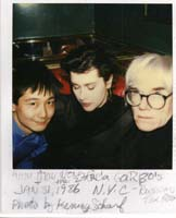 Anna May Wong, Tere Tereba & Andy Warhol @ the Russian Tea Room Jan 31, 1986