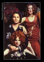 Tere Tereba, Jim Morrison & Pam Courson. Photo by Raeanne Rubenstein.