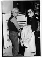 "Andy Warhol & Tere Tereba ""At the end of the day"" Photo by Pat Hackett."